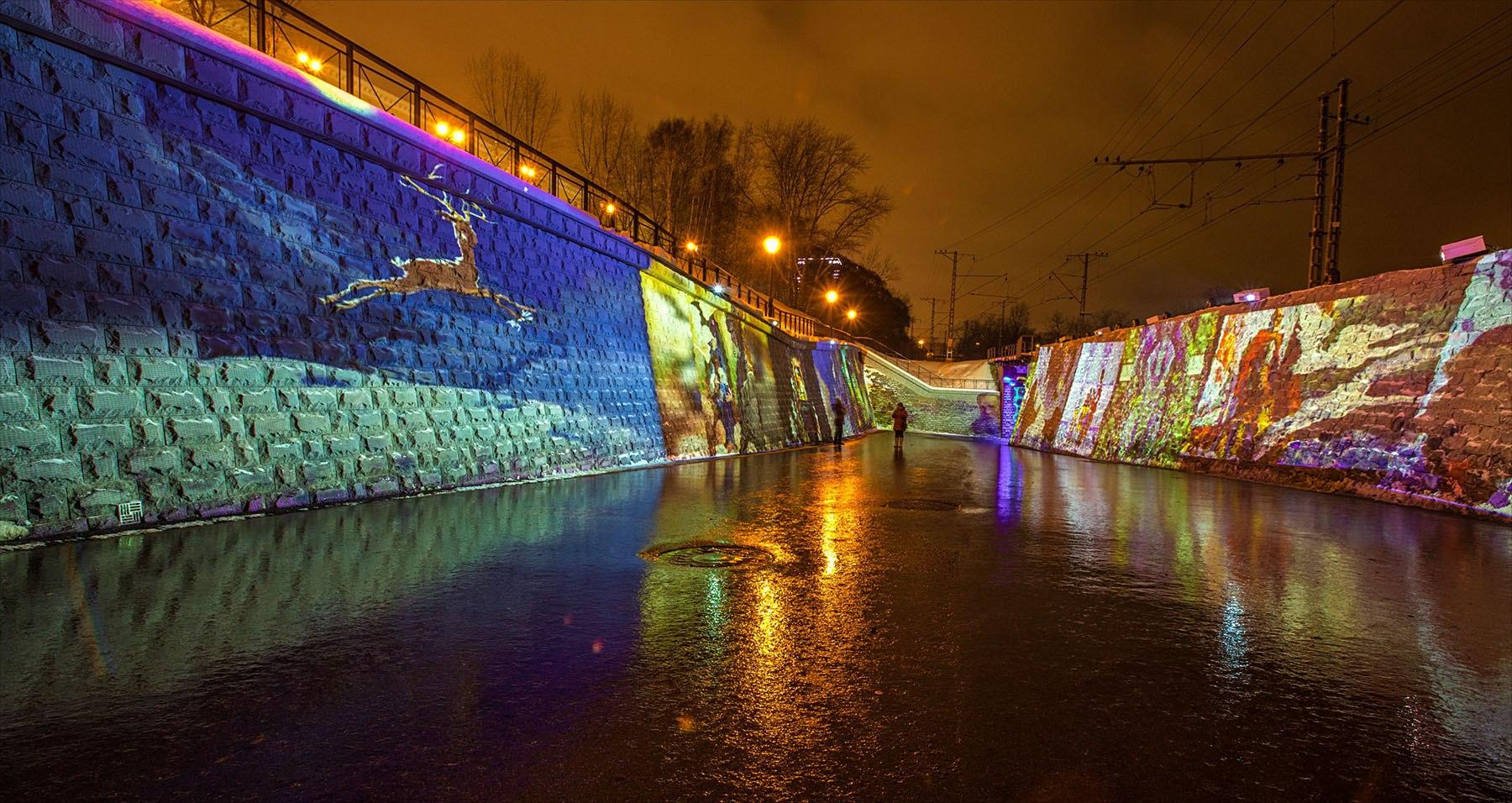 Сфевраля напермской набережной можно увидеть новое световое шоу